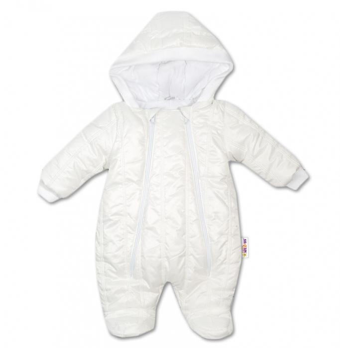 828770ec1 Kombinézka s kapucňu LUX Baby Nellys ®prešívaná - smotanová veľ. 74